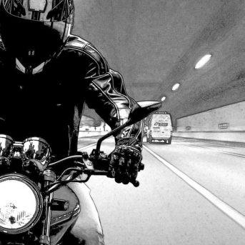 Verkeersongeval met motor